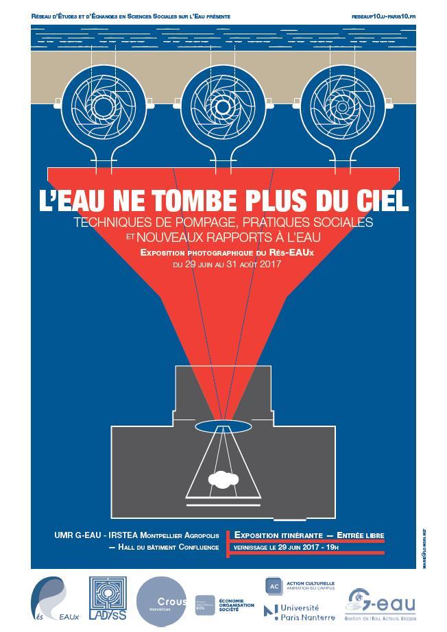 Invitation à l'inauguration de l'expo «L'eau ne tombe plus du ciel» à l'Université Paris-Est Créteil, mardi 13 février