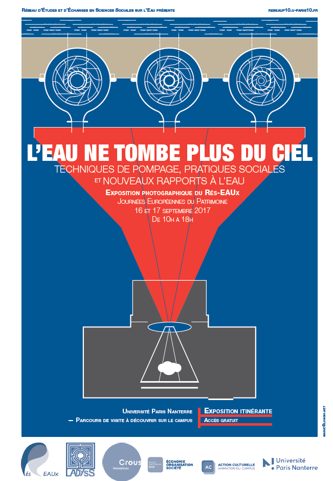 Exposition Photographique du Rés-EAUx à l'occasion des Journées Européennes du Patrimoine, samedi 16/09 et dimanche 17/09 à l'Université Paris Nanterre