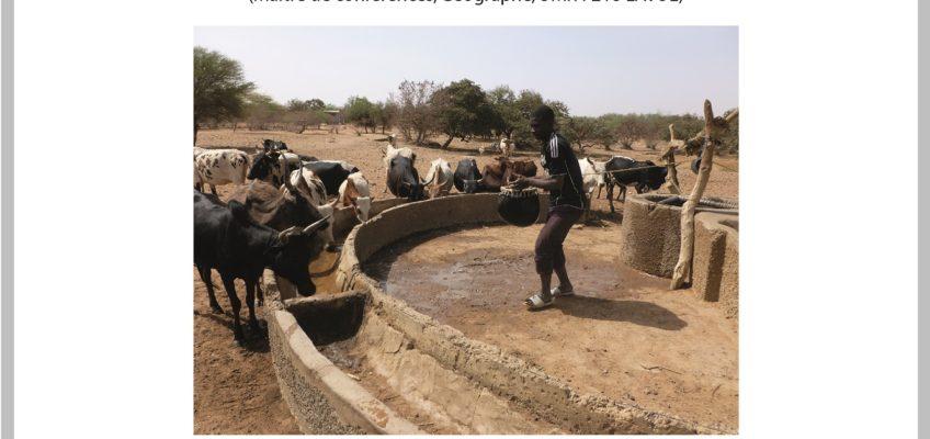 4ème apér-eau scientifique avec Alexis Gonin le mardi 30 janvier 2018 : Pastoralisme et gestion de l'eau en Afrique de l'Ouest