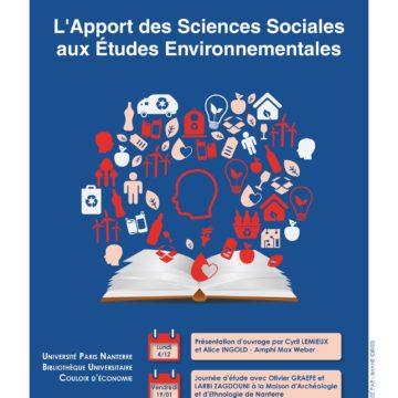 Nouvelle Expo Bibli-EAU : «L'apport des Sciences Sociales en Études Environnementales» (du 04/12 au 15/12 à l'Université Paris Nanterre)