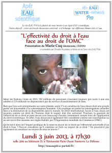 l'effectivité du droit de l'homme à l'eau et droit de l'OMC