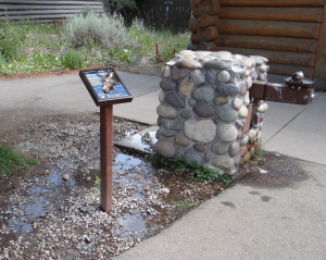 Photo 1 – Fontaine d'eau potable dans le Parc National du Grand Teton (Wyoming, USA), Jenny Lake – Août 2013