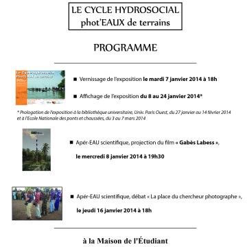 Evénements rés-EAU de la semaine à venir: vernissage exposition photo ce soir et projection du film «Gabès Labess» le 8 janvier 2014