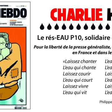 Le rés-EAU P10 solidaire de Charlie Hebdo