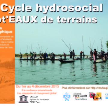 L'expo phot'eau à la conférence «Water, megacities and global change» du 1er au 4 décembre 2015