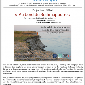 6éme Apér-EAU scientifique : Projection « AU BORD DU BRAHMAPOUTRE », Jeudi 3 mars 2016 à 19h
