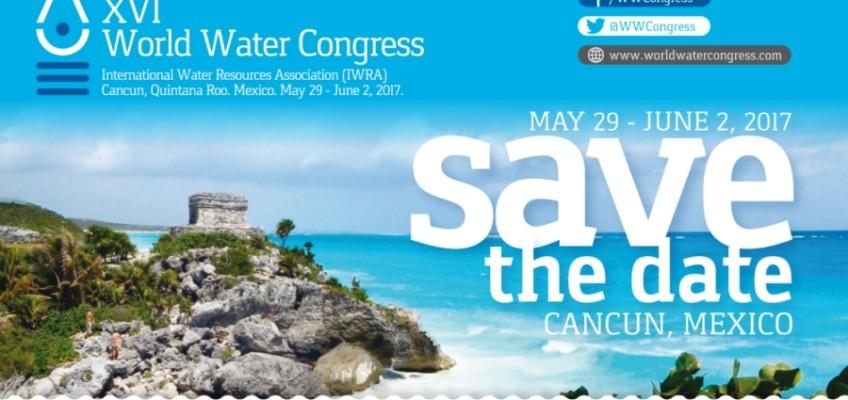 Appel à communications (jusqu'au 1er Septembre 2016) pour la 16ème édition du congrès mondial de l'eau