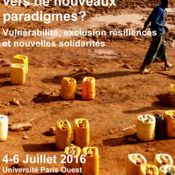 Conférence internationale: «L'accès à l'Eau en Afrique: vers de nouveaux paradigmes?» Université de Nanterre-La Défense  du 4 au 6 juillet 2016