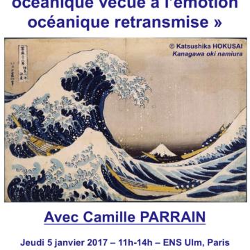 Séminaire – Géographie des émotions – Vivre la mer – 5 janvier, 11h-14h – ENS Ulm Paris