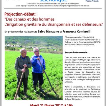 [Rappel] 11e Apér-Eau scientifique : Projection-débat « Des canaux et des hommes », le mardi 21 février 2017 à 19h