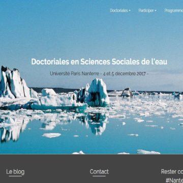 Le site des doctoriales en sciences sociales de l'eau 2017 est ouvert !