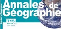 Publication «Politique environnementale et territoire : le démantèlement des ouvrages hydrauliques en France à l'épreuve du modèle nord-américain» : Annales de Géographie