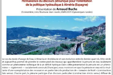 Apér-EAU scientifique : Arnaud Buchs – 24 octobre 2017 – Péniche Antipode