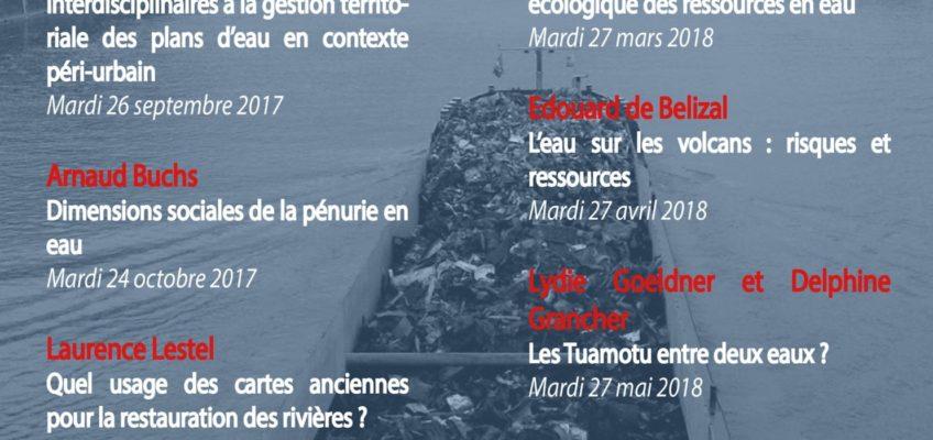 Programmation des Apér-EAUx du Rés-EAUx 2017/2018 sur la péniche Antipode
