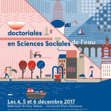 Appel à communication pour les doctoriales de l'eau 2017 (4-5-6 décembre, Nanterre)