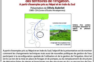 5e Apér-EAU scientifique – Olivia Aubriot – Péniche Antipode – Mardi 27/02 à 19h