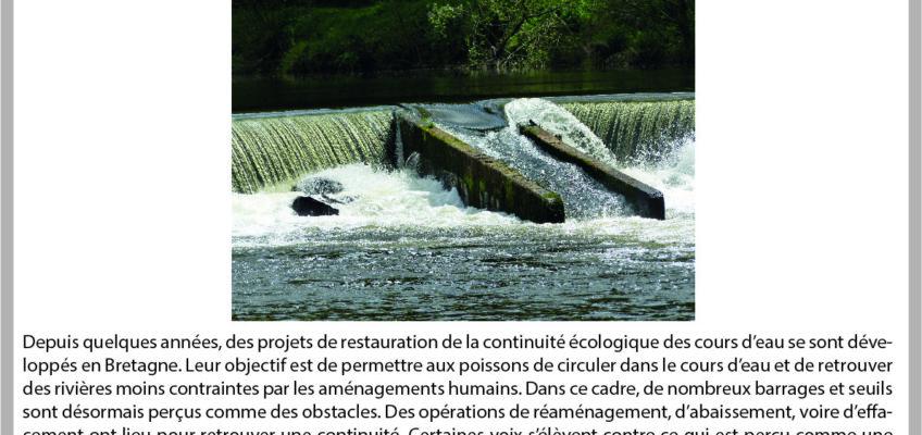1er ApérEAU de l'Ouest ! C. Le Calvez – «Usages et continuité écologique des cours d'eau en Bretagne» – 24/04 – à Rennes