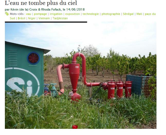 Publication de l'article « L'eau ne tombe plus du ciel » – Revue Métropolitiques