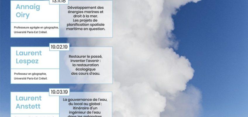 Programmation 2018-2019 des «Apér-EAUX scientifiques» sur la péniche Antipode (Paris)