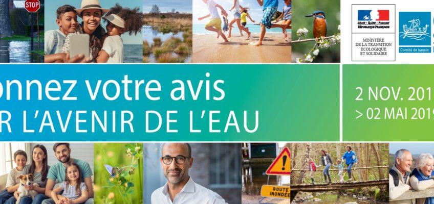 Avis d'enquête publique – Donnez votre avis sur l'avenir de l'eau – Du 2 novembre 2018 au 2 mai 2019