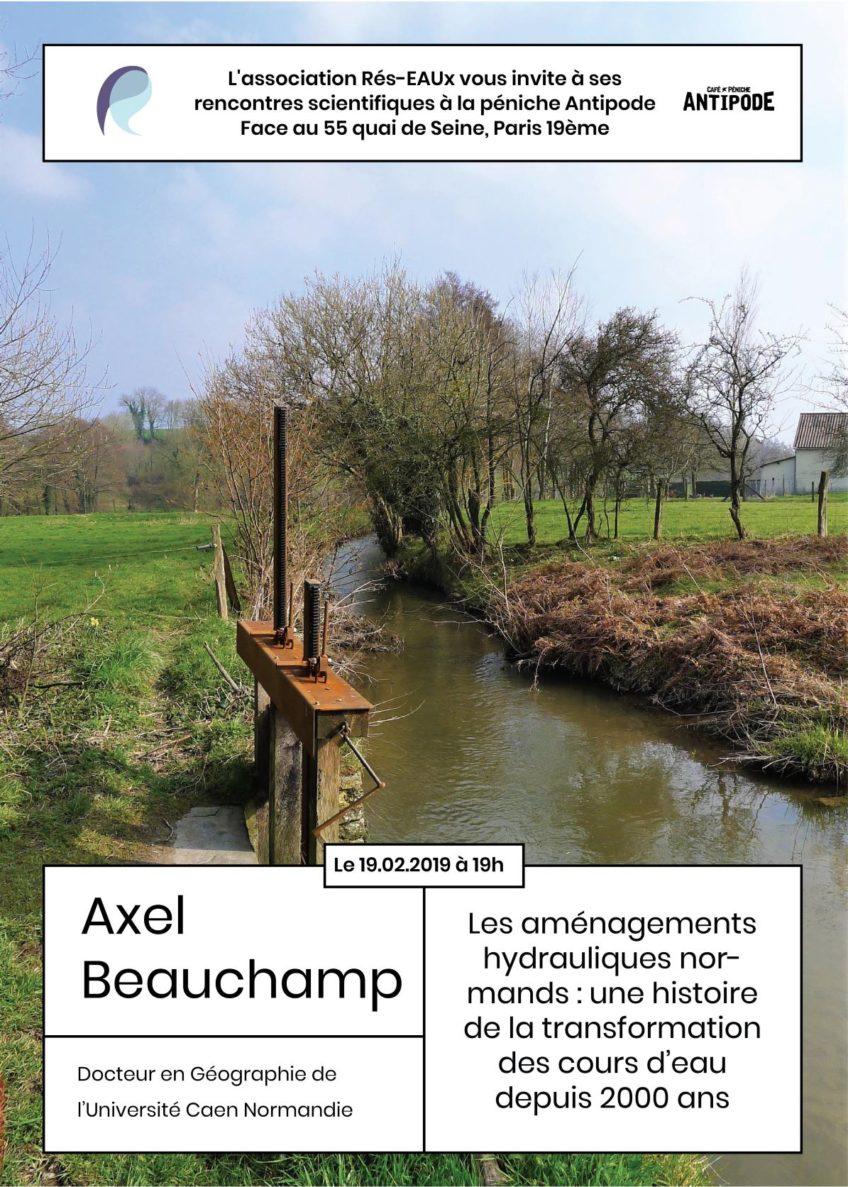 Apér-eau sur les aménagements hydrauliques normands le 19/02/2019
