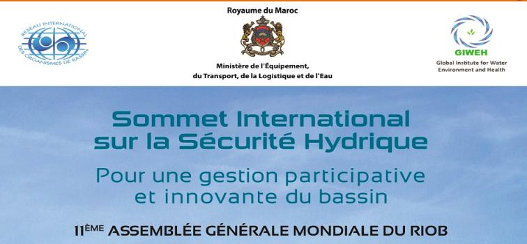 Sommet international sur la sécurité hydrique du 1er au 3 octobre à Marrakech