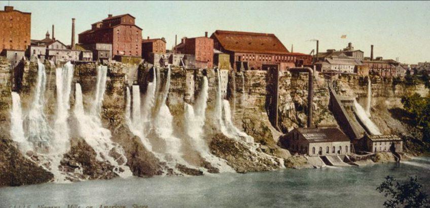La Phot'eau insolite de la semaine : The MILL DISTRICT of Niagara Falls, New York, 19th Century