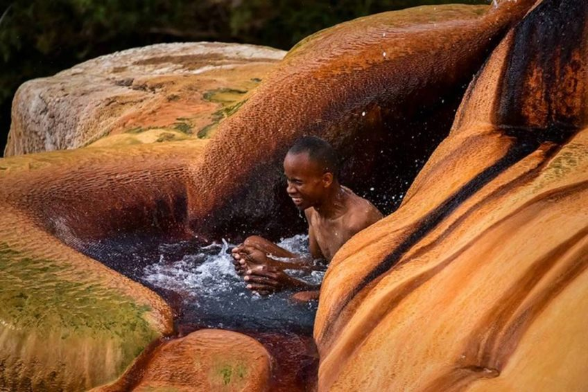 La phot'eau insolite de la semaine: Enjoying curative mineral waters