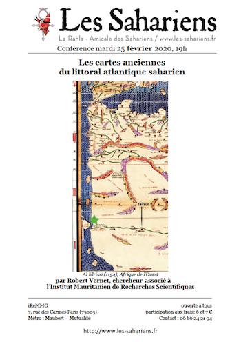 Conférence «Les cartes anciennes du littoral Atlantique Saharien» le 25/02/20 à Paris