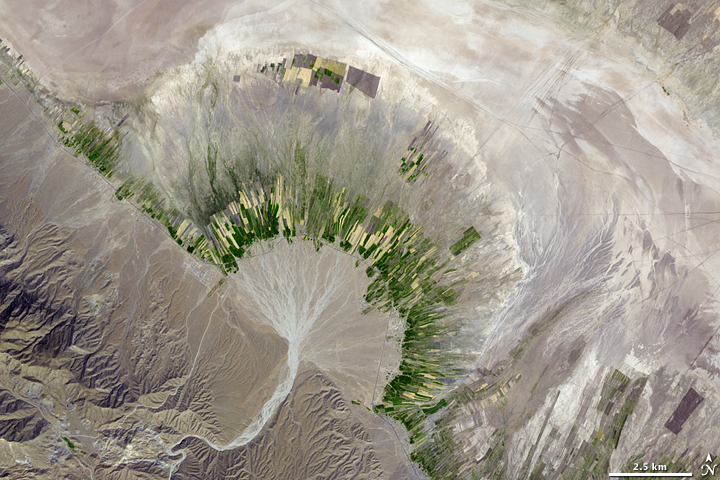 La phot'eau insolite de la semaine – « Alluvial fan and spate irrigation in Iran »